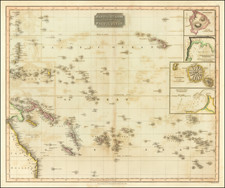 Pacific, Oceania, Hawaii and Other Pacific Islands Map By John Thomson