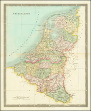 Netherlands Map By Henry Teesdale