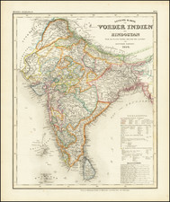 India Map By Adolf Stieler