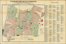 Mexico Map By American Book & Printing Company / Rand McNally & Company