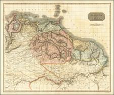 Guianas & Suriname and Venezuela Map By John Thomson