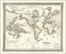 World Map By David Hugh Burr