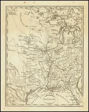 South, Louisiana, Mississippi, Arkansas, Kentucky, Tennessee, Texas, Midwest, Illinois, Plains, Iowa and Missouri Map By T.F. Ehrmann