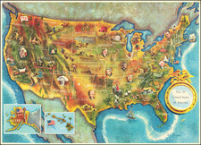 United States and Pictorial Maps Map By Lorin Thompson
