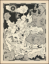 Western Europe, Pictorial Maps, World War II and Germany Map By Richard Q. Yardley