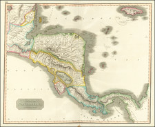 Central America Map By John Thomson