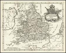 England Map By Joseph De La Porte