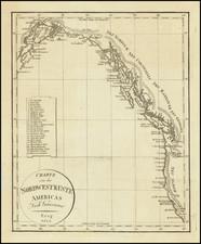 Oregon, Washington, Alaska, California and British Columbia Map By Franz Pluth