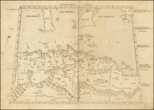 Malta, Sicily and North Africa Map By Bernardus Venetus de Vitalibus / Claudius Ptolemy