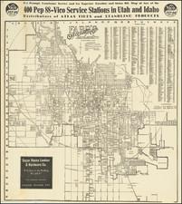 Utah and Utah Map By W.E. Farr
