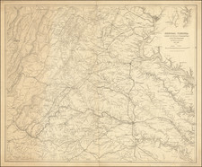Virginia and Civil War Map By United States Bureau of Topographical Engineers