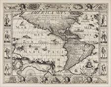 America Map By Pieter van den Keere