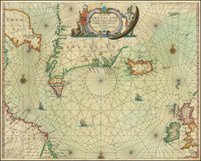 Polar Maps, Atlantic Ocean, Iceland and Eastern Canada Map By Johannes van Loon