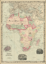 Africa Map By Alvin Jewett Johnson  &  Ross C. Browning