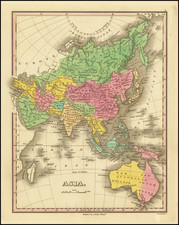 Asia, Asia and Australia Map By Anthony Finley