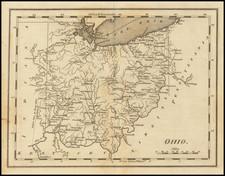 Ohio Map By Mathew Carey