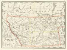Western Canada Map By George F. Cram