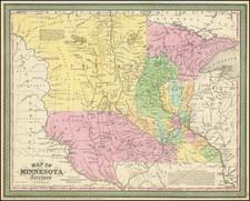 Minnesota, North Dakota and South Dakota Map By Cowperthwait, Desilver & Butler