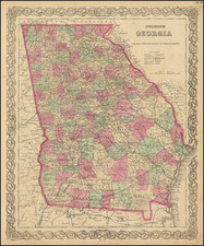 Georgia Map By G.W.  & C.B. Colton