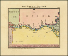 England and London Map By John Luffman