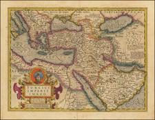 Balkans, Turkey, Mediterranean, Central Asia & Caucasus, Middle East and Turkey & Asia Minor Map By Jodocus Hondius