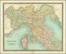 Northern Italy Map By Henry Teesdale
