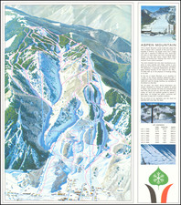 Colorado, Colorado and Pictorial Maps Map By Aspen Skiing Corporation / Hal Shelton