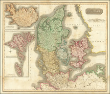 Iceland and Denmark Map By John Thomson