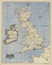 British Isles and World War II Map By Völkischer Beobachter