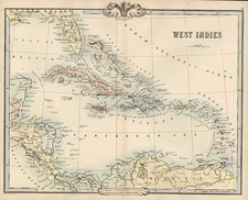 Caribbean Map By G.F. Cruchley
