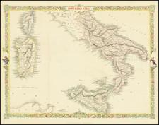 Southern Italy, Sardinia and Sicily Map By John Rapkin