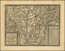 Africa and East Africa Map By Matthias Quad / Johann Bussemachaer