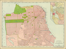 San Francisco & Bay Area Map By William Rand  &  Andrew McNally