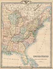 United States and Canada Map By G.F. Cruchley