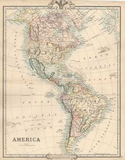 South America and America Map By G.F. Cruchley