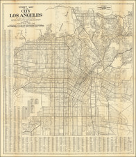 Los Angeles Map By Automobile Club of Southern California