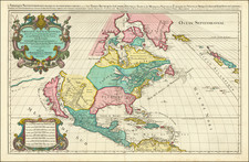 North America and California Map By Alexis-Hubert Jaillot / Pierre Mortier