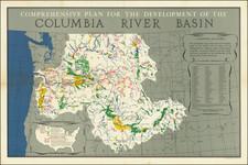 Idaho, Oregon and Washington Map By United States GPO
