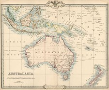 Asia, Southeast Asia, Australia & Oceania, Australia and New Zealand Map By G.F. Cruchley
