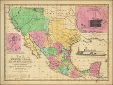 Texas, Plains, Southwest, Rocky Mountains, Mexico and California Map By House & Brown
