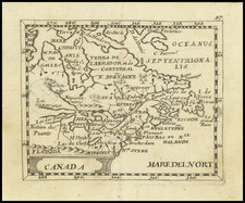 New England, Midwest and Eastern Canada Map By Pierre Du Val