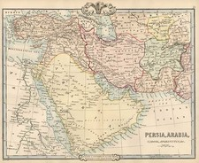 Asia, Central Asia & Caucasus and Middle East Map By G.F. Cruchley