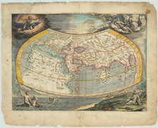 [17th Century Provenance!] Universalis Tabula Iuxta Ptolemaeum By  Gerard Mercator