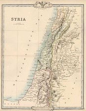 Asia, Middle East and Holy Land Map By G.F. Cruchley