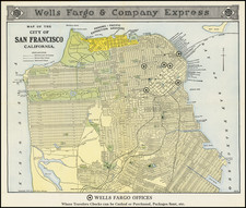 San Francisco & Bay Area Map By Poole Brothers