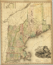 New England, Connecticut, Maine, Massachusetts, New Hampshire, Rhode Island and Vermont Map By Henry Schenk Tanner