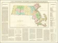 Massachusetts Map By Jean Alexandre Buchon