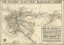 Los Angeles Map By D.W. Pontius / Pacific Electric Railway