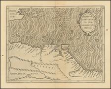 Caribbean and Venezuela Map By Cornelis van Wytfliet