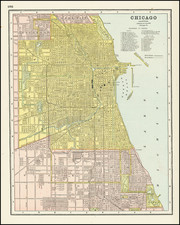 Illinois and Chicago Map By George F. Cram